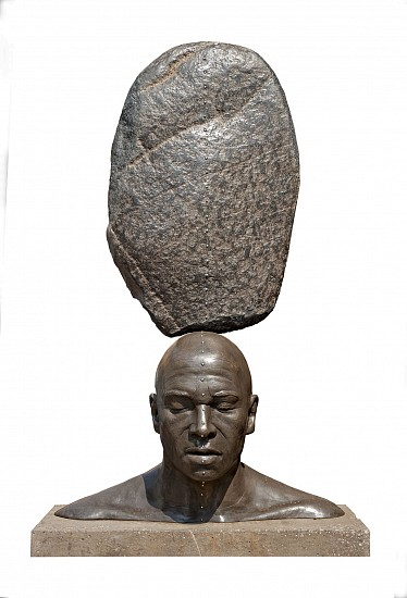 ANGUS TAYLOR, Entangled Head Bronze and granite