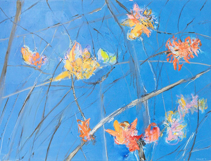 BRONWEN FINDLAY, Branches of Coral Tree Oil on canvas