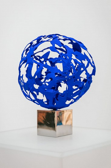 ARABELLA CACCIA, Blue Planet III (unique) Bronze and ultra marine blue